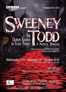 Sweeney Todd Autumn 2016
